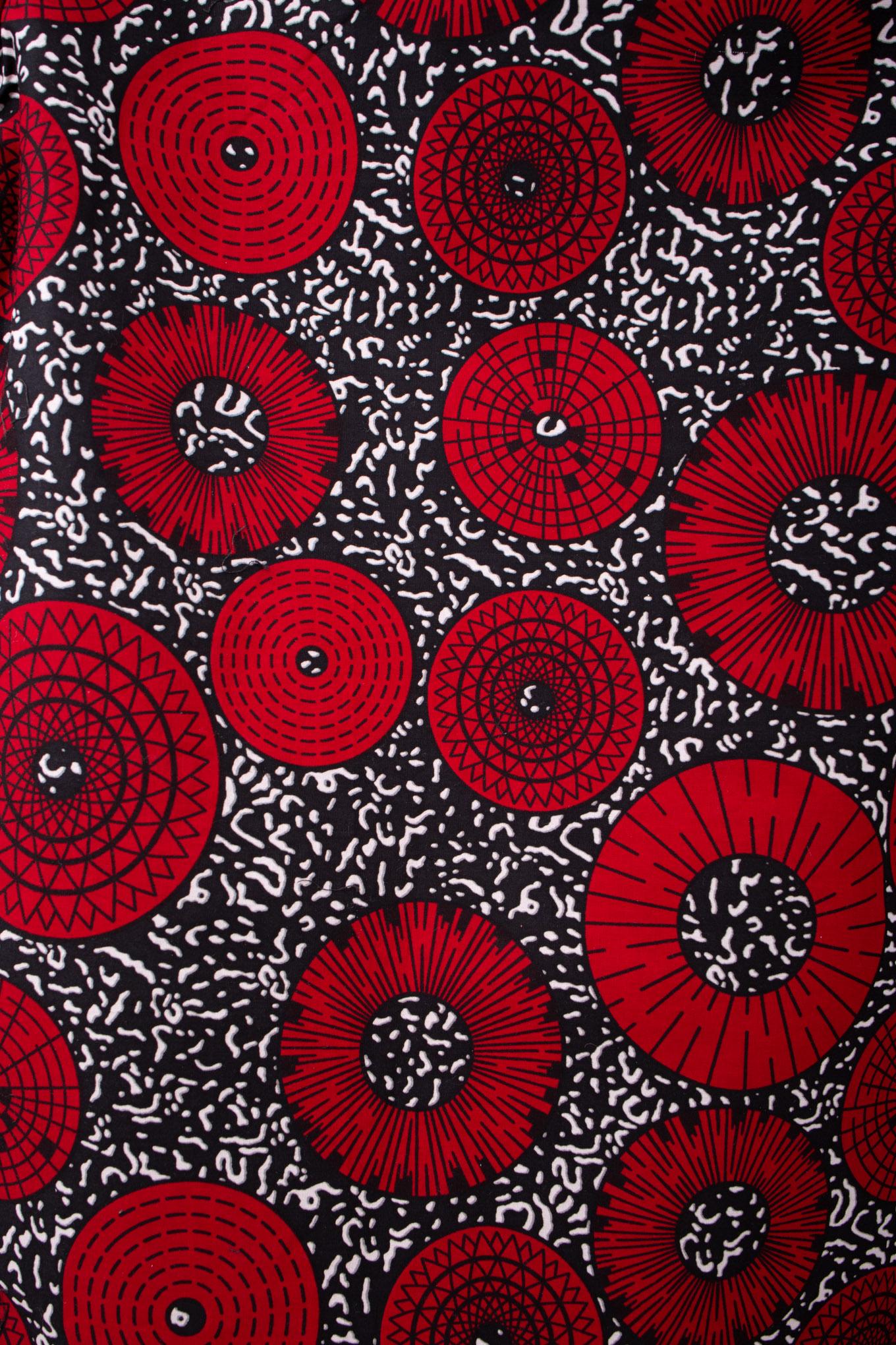 Muster des Chitenje Poppy
